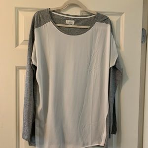 Lou & Grey - two toned women's M blouse
